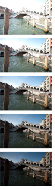 HDR Photography Exposures Sample