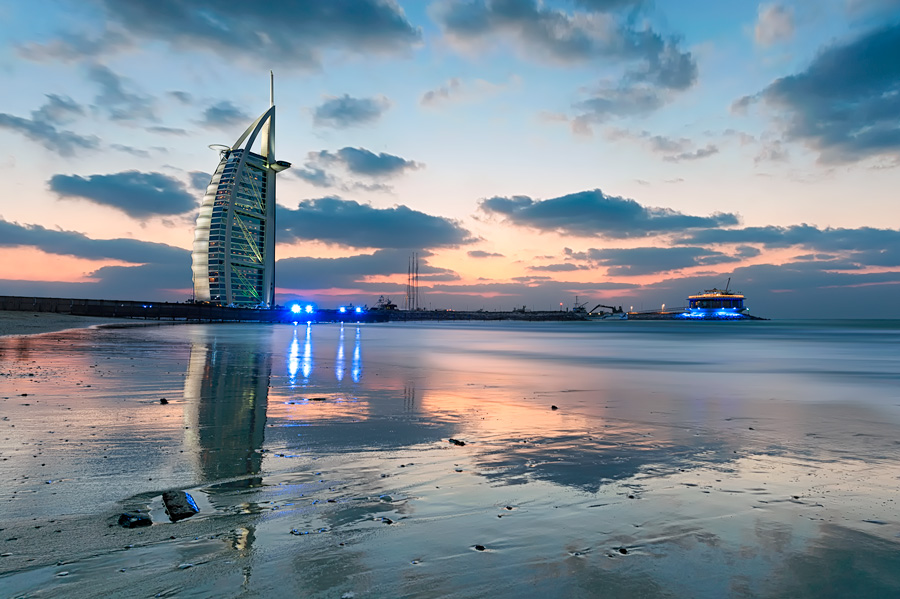 Sunset Over The Burj Al Arab
