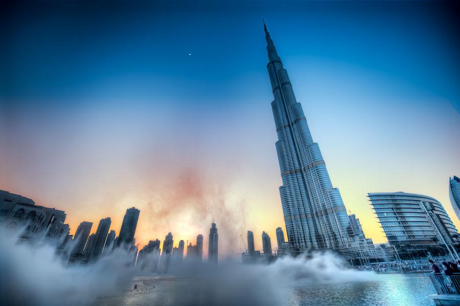 Sunset Over The Burj Khalifa
