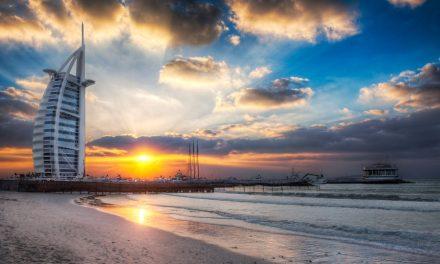 Burj Al Arab Sunset From Jumeirah Beach