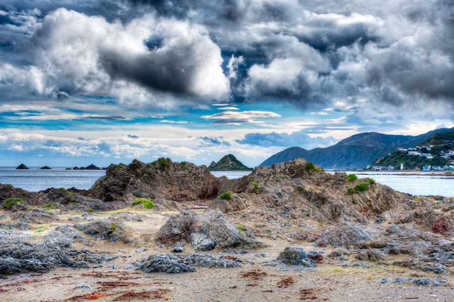 HDR Photo - Wellington (Island Bay) New Zealand - The Gathering Storm