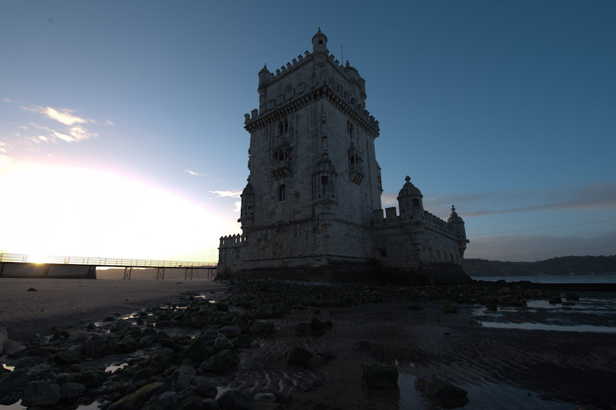 HDR Photo - Belem Tower Sunrise - Lisbon Portugal