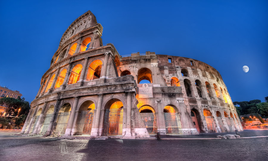 HDR Rome - The Colosseum By Night