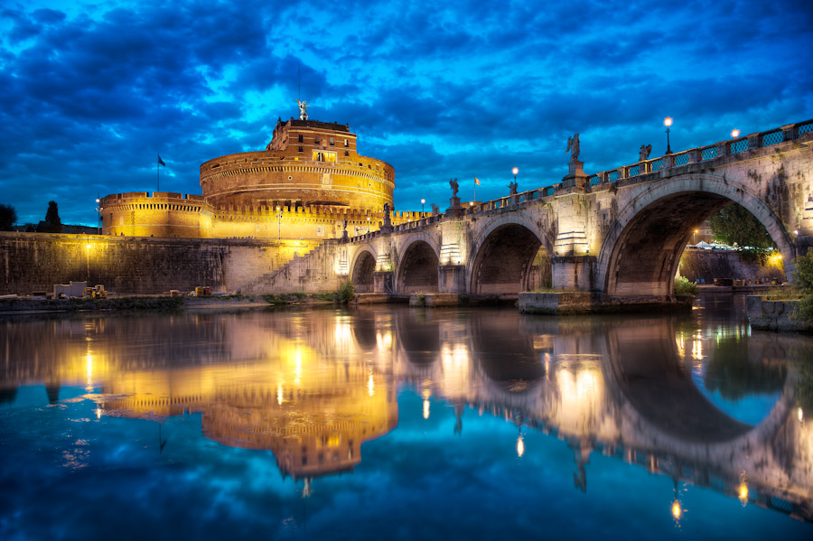 Ponte Sant'Angelo in Rome Italy
