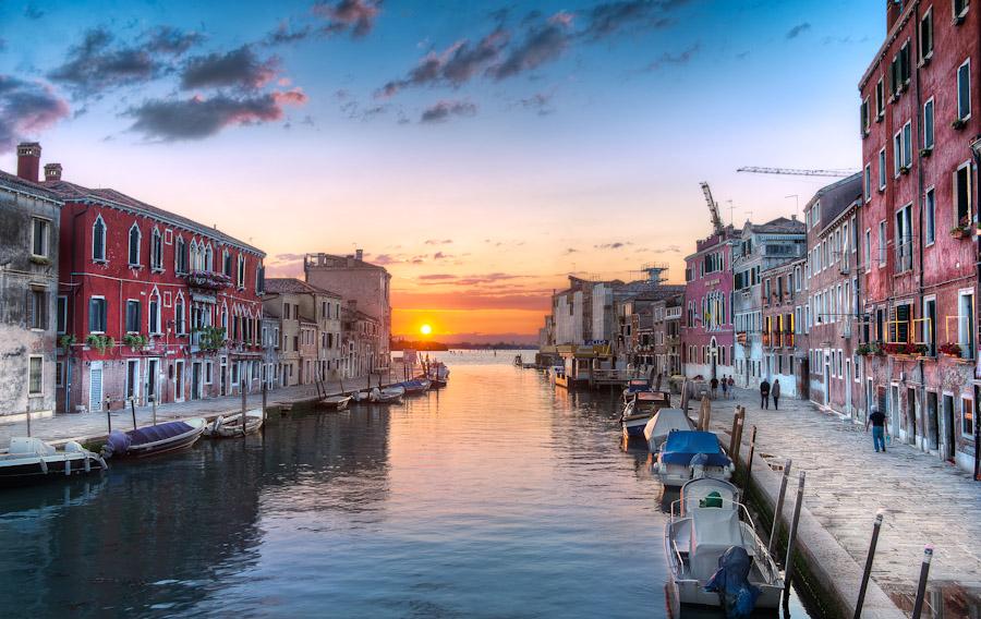 Venice Italy - The Setting Sun