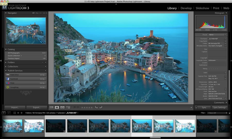 lightroom interface example