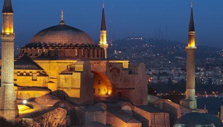 Istanbul And Hagia Sophia At Night