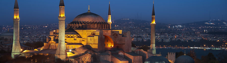Istanbul And Hagia Sophia At Night