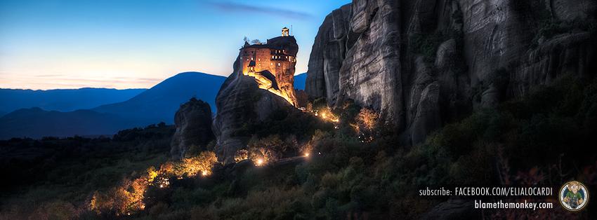 Free Facebook Timeline Cover Twilight Monastery - BlameTheMonkey.com