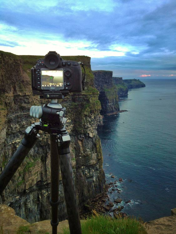 Travel Photography - Behind The Scenes - Ireland Cliffs of Moher