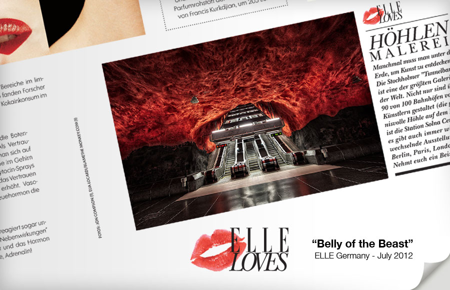 ELLE Magazine Germany - Belly of the Beast - Stockholm Tbana