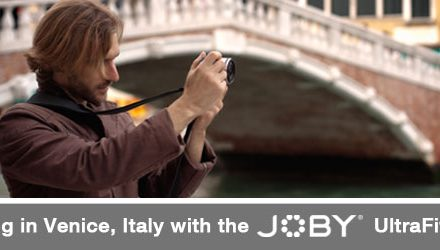 Scouting Venice Italy with the Joby UltraFit Sling Strap