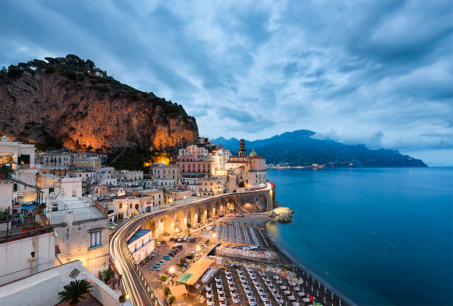 Image result for amalfi coast italy at night