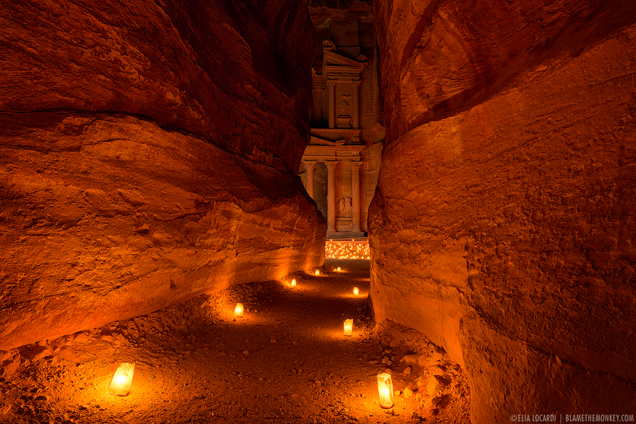 The Path Of Ages Petra By Night