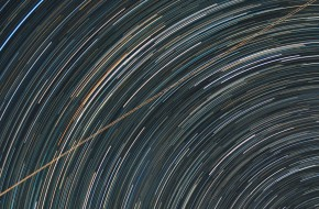 Star Trails picked up the ISS Space Station