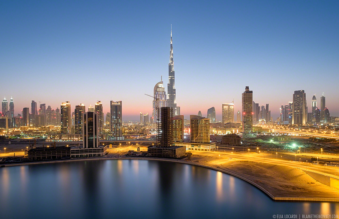 dubai city night hd wallpaper