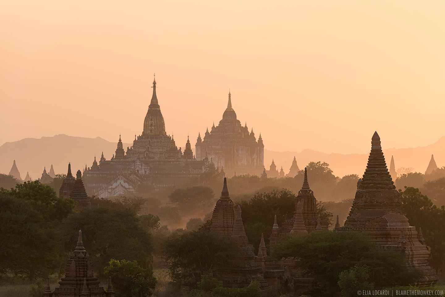 Temples in The Distance | Bagan, Myanmar