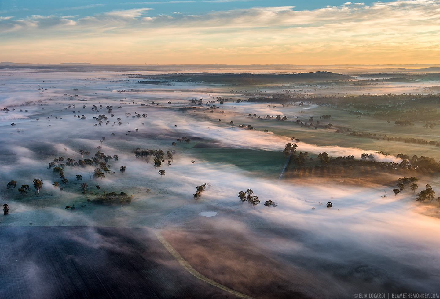Queensland Scenic Rim from hot air balloon