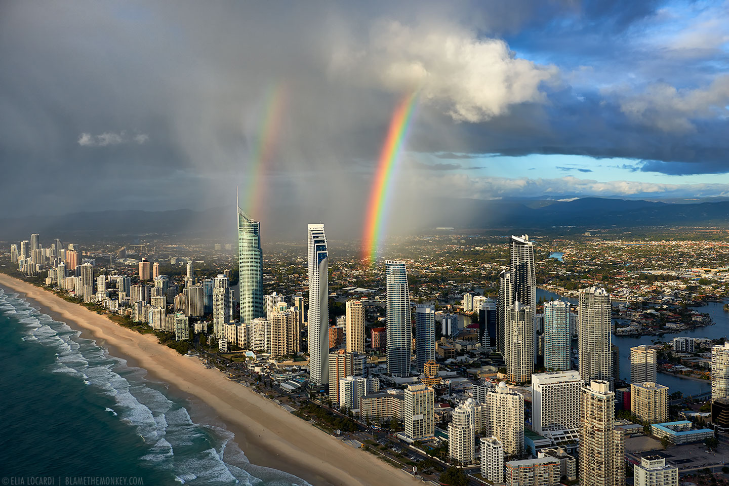 Rainbow in Surfers Paradise | Aerial Photography Australia 10 Most Beautiful Places In The World To Visit