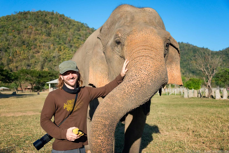 Elia with Elephant