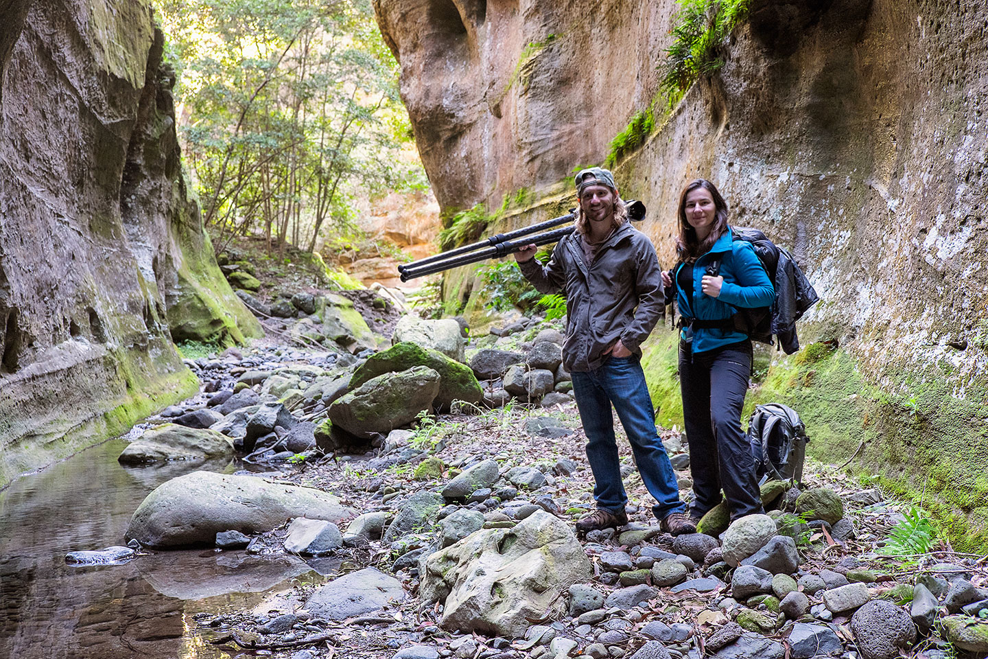 Naomi and Elia during a 16k hike in the Carnarvon Gorge