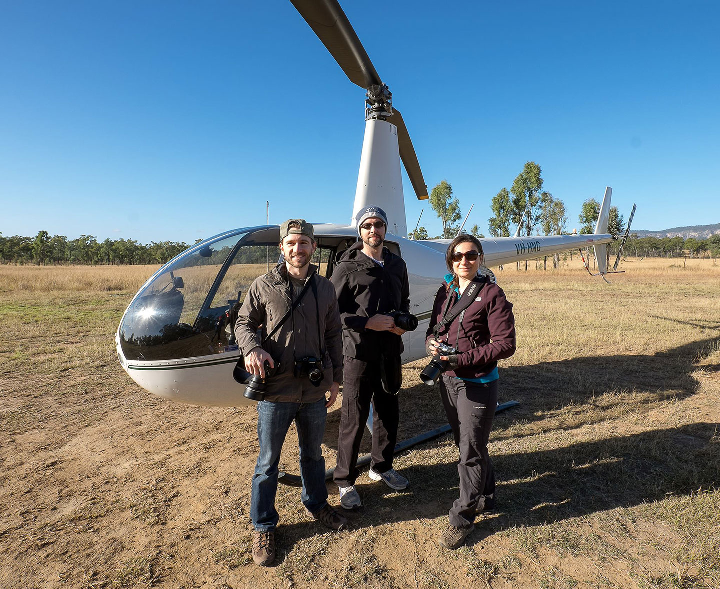 Before flying over the Carnarvon Gorge