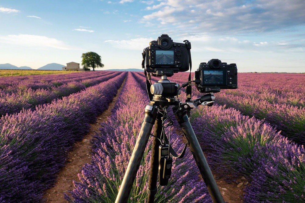 07-two-cameras-shooting-lavender-sunrise
