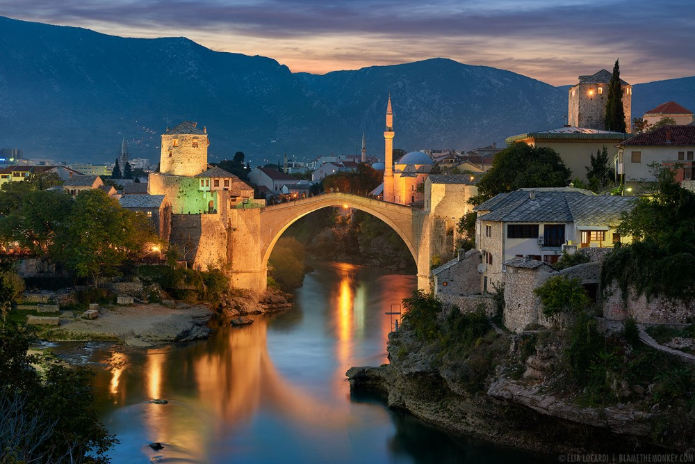 The fascinating old city of Mostar and the Stari Most, one of the gems of Herzegovina.