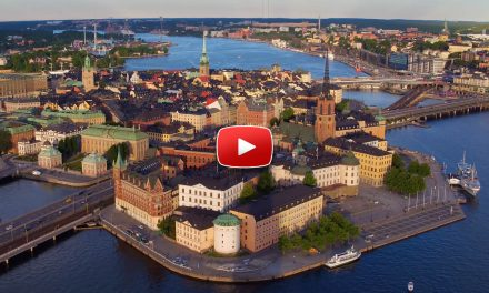A Drone in Stockholm Sweden